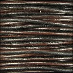Natural Dye 2mm Leather per spool Dark Brown