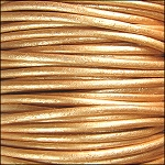 Metallic 2mm Leather per spool Gold