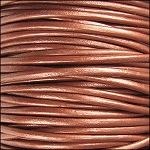 Metallic 2mm Leather per 3 yards Copper