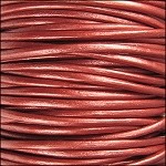Metallic 1.5mm Leather per spool Russet