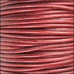 Metallic 1mm Leather per spool Moroccan Red