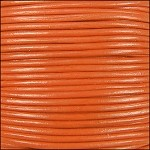 2mm Leather Spool Orange