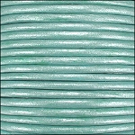 Metallic 2mm Leather Spool Lt Turquoise