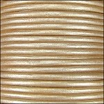 Metallic 1mm Leather per spool Cream
