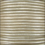 Metallic 1mm Leather per spool Cement