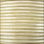 Metallic 1mm Leather per spool Pearl
