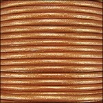 Metallic 2mm Leather Spool Burnt Gold