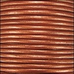 Metallic 1mm Leather per spool Burnt Orange