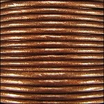Metallic 1mm Leather per spool Dark Copper