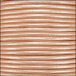Metallic 1mm Leather per spool Lt Salmon