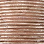 Metallic 1mm Leather per spool Dusty Pink