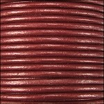 Metallic 2mm Leather Spool Maroon