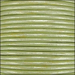 Metallic 2mm Leather Spool Lt Fern Green