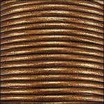 Metallic 1.5mm Leather per 3 yards Brown