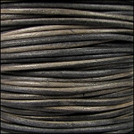 Natural Dye 2mm Leather per spool Grey Brown