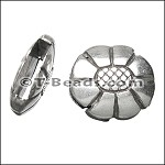 Oval flower slider ANT SILVER per piece