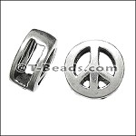 MINI peace sign slider ANT SILVER per piece