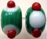 Polka Dot Spots Glass Lampwork Beads