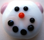 Snow Girl Glass Lampwork Beads
