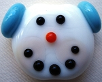 Snow Boy Glass Lampwork Beads