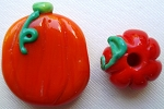 Pumpkins Glass Lampwork Beads