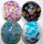 Small Lentils Glass Lampwork Beads 2