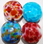Small Lentils Glass Lampwork Beads 4