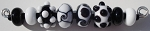 Black and White Mix 2 Glass Lampwork Beads