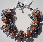 Terra Cotta Flower Jangle Bracelet
