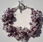 Amethyst Flowers Jangle Bracelet