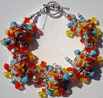 Hawaiian Flowers Jangle Bracelet