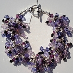 Purple Swirl Jangle Bracelet