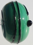 Black Stringer - Green Glass Lampwork Beads