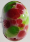 Frit - Pink and Green Glass Lampwork Beads