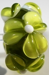 Olive Glass Lampwork Beads