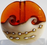 Topaz Wave Glass Lampwork Beads