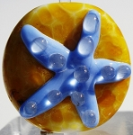 Periwinkle Starfish Glass Lampwork Beads