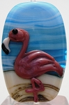 Flamingo Glass Lampwork Beads