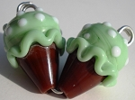 Ice Cream - Pistachio Glass Lampwork Beads