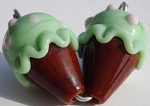 Ice Cream - Lime Sherbert Glass Lampwork Beads