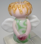 Green Angel Glass Lampwork Beads