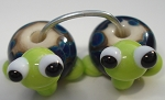 Turtle Babies 1 Glass Lampwork Beads