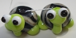 Turtle Babies 2 Glass Lampwork Beads