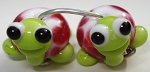 Turtle Babies 5 Glass Lampwork Beads