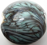 Galaxy Lentil Glass Lampwork Beads 7