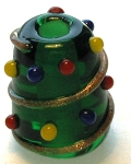 Christmas Tree Bead Glass Lampwork Beads