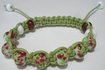 Green and Pink macrame Bracelet Kit