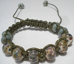 Raku and Green macrame Bracelet Kit