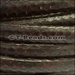 Python Mini Regaliz Leather per inch Dark Brown