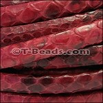 Python Mini Regaliz Leather per inch Red